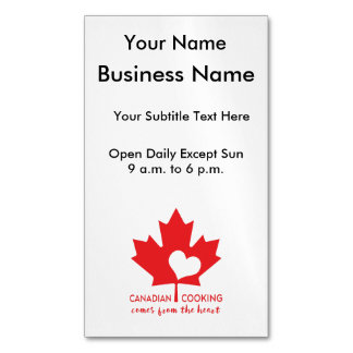 Canada Day Gourmet Magnetic Business Cards