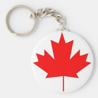 Canada flag, Happy Canada Day Basic Round Button Key Ring
