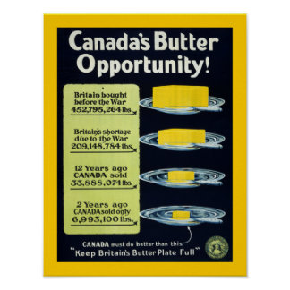 Canada's Butter Opportunity (border) Poster