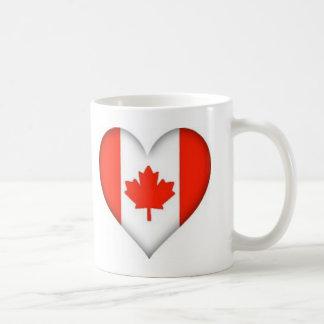 canadian flag heart design basic white mug