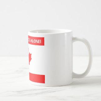 Canadian Leaf Design Basic White Mug