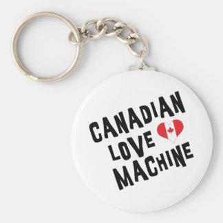 Canadian Love Machine Basic Round Button Key Ring