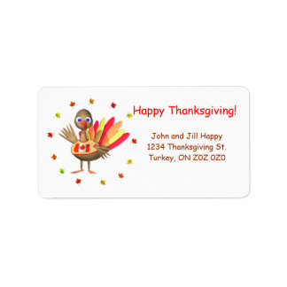 Canadian Thanksgiving Baby Turkey Address Label