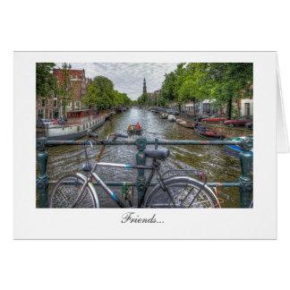 Canal Bridge View and Bike - Friends Greeting Card