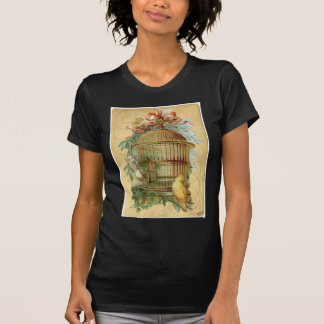Canary Bird Cage Victorian T Shirts