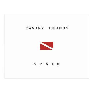 Canary Islands Spain Scuba Dive Flag Postcard