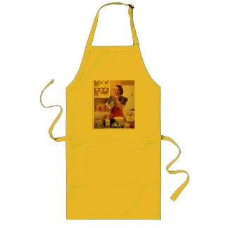 Canary yellow retro apron
