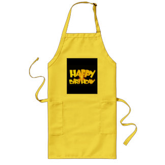 Candle Lit Happy Birthday Long Apron