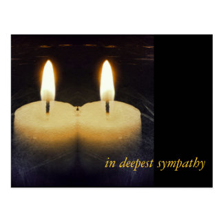 "candles ""in DTE plague sympathy "" Postcard"