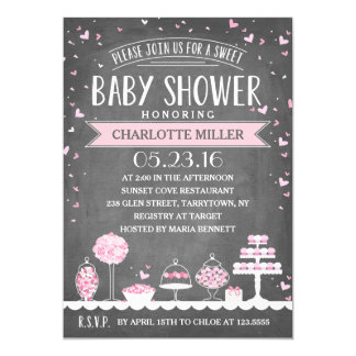 Candy Bar | Baby Shower 13 Cm X 18 Cm Invitation Card