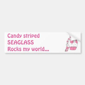 candy Stripe Seaglass Multi Bumper Sticker