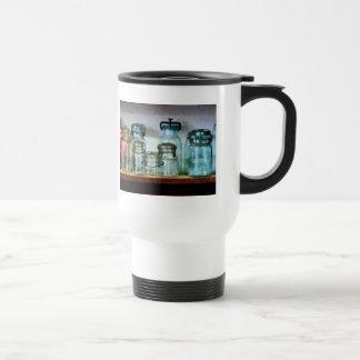Canning Jars on Shelf Stainless Steel Travel Mug