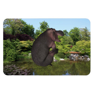 Cannonball Hippo Rectangular Photo Magnet