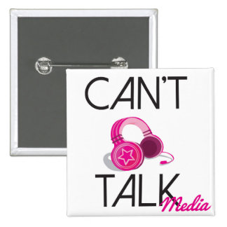 Can't Talk Logo 2 Inch Square Button