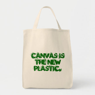 Canvas is the new plastic. grocery tote bag