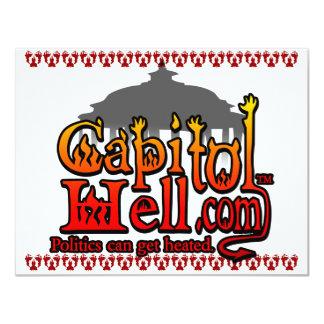 CapitolHell.com 11 Cm X 14 Cm Invitation Card