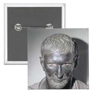 Capitoline Brutus, 4th-3rd century BC 15 Cm Square Badge