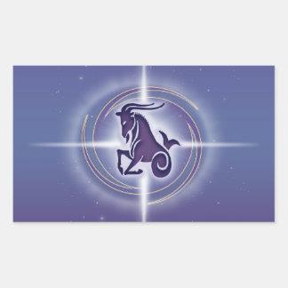 Capricorn Horoscope Lavender Rectangular Sticker