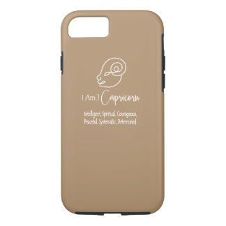 Capricorn Zodiac Sign The Goat Iced Coffee iPhone 7 Case