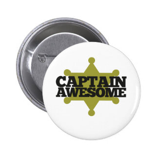 Captain Awesome 6 Cm Round Badge
