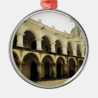 Captain's guard in Antigua Guatemala Silver-Colored Round Decoration