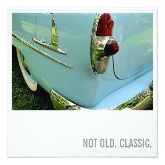 Car Lover 50th Birthday - Not Old. Classic 13 Cm X 13 Cm Square Invitation Card