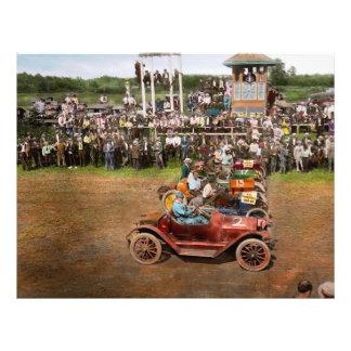 Car - Race - On the edge of their seats 1915 21.5 Cm X 28 Cm Flyer