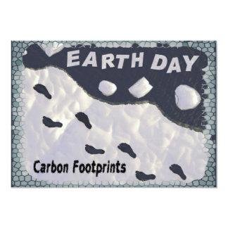 Carbon Footprints 13 Cm X 18 Cm Invitation Card