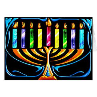 Card: Hanukkah Menorah - Chanukah Menorah Greeting Card