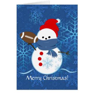 Card - Snowman Football