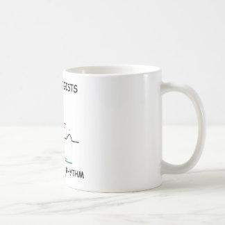 Cardiologists Do It With Rhythm (ECG/EKG) Basic White Mug