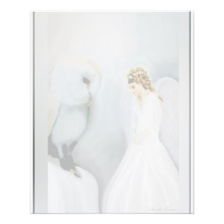 Care Guardian Angel and White Owl 11.5 Cm X 14 Cm Flyer