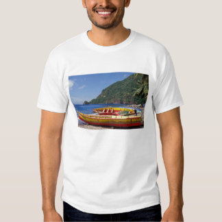 Caribbean, BWI, St. Lucia, Sailboats, Soufriere. Tees