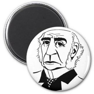 Caricature William Gladstone 6 Cm Round Magnet