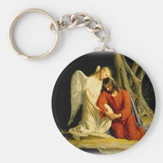 Carl Heinrich Bloch - Gethsemane Basic Round Button Key Ring