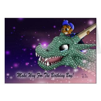 Carlos and the Dragon Birthday Card
