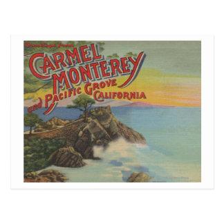 Carmel, Monterey, & Pacific Grove, CA - Welcomes Postcard