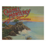 Carmel, Monterey, & Pacific Grove, CA - Welcomes Poster
