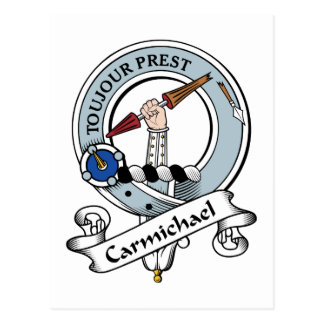 Carmichael Clan Badge Postcard