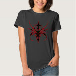 Carnival Mask Tribal Tattoo black and red on black T Shirt