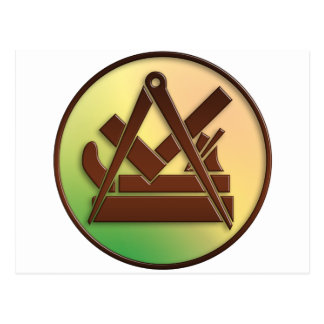 carpenter symbols postcard