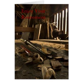 Carpenters  Busy Workshop Retirement Card