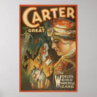Carter the Great - The World's Weird Wizard Poster