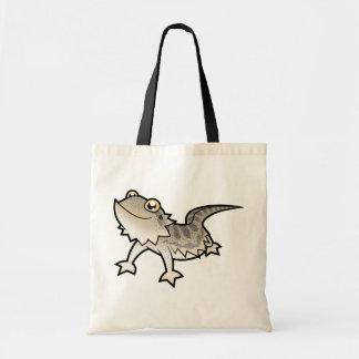 Cartoon Bearded Dragon / Rankin Dragon Budget Tote Bag