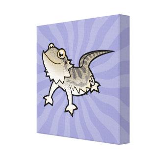 Cartoon Bearded Dragon / Rankin Dragon Canvas Prints