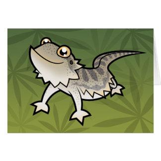 Cartoon Bearded Dragon / Rankin Dragon Greeting Card