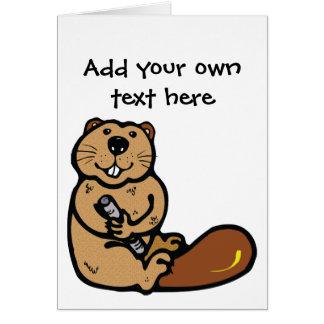 Cartoon Beaver for International Beaver Day Greeting Card