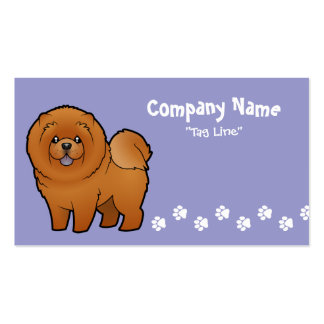 Cartoon Chow Chow Pack Of Standard Business Cards