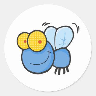 Cartoon Fly Round Sticker