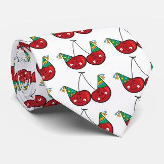 Cartoon Fun Comic Funny Cheeky Red Cherries Cherry Tie